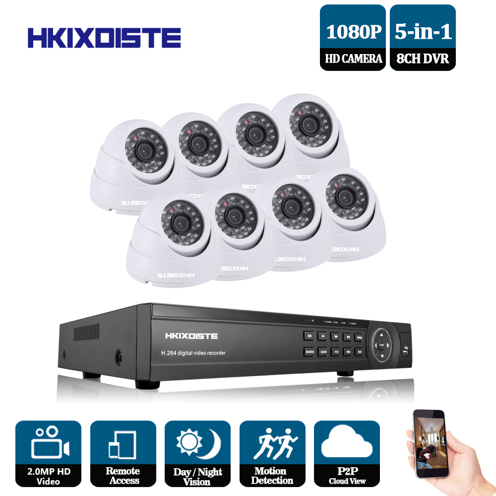 8CH 1080P HDMI DVR 1080P HD Indoor Security Camera System 8 Channel CCTV DVR Kit 2