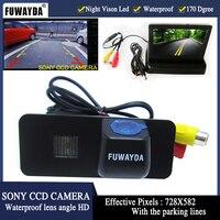 FUWAYDA 520 líneas de TV cámara de visión trasera de coche SONY HD Color CCD cámara de reserva del coche para VW GOLF 4 5 6 MK4 MK5 EOS LUPO escarabajo superb|camera for vw|hd ccdsony ccd backup camera -