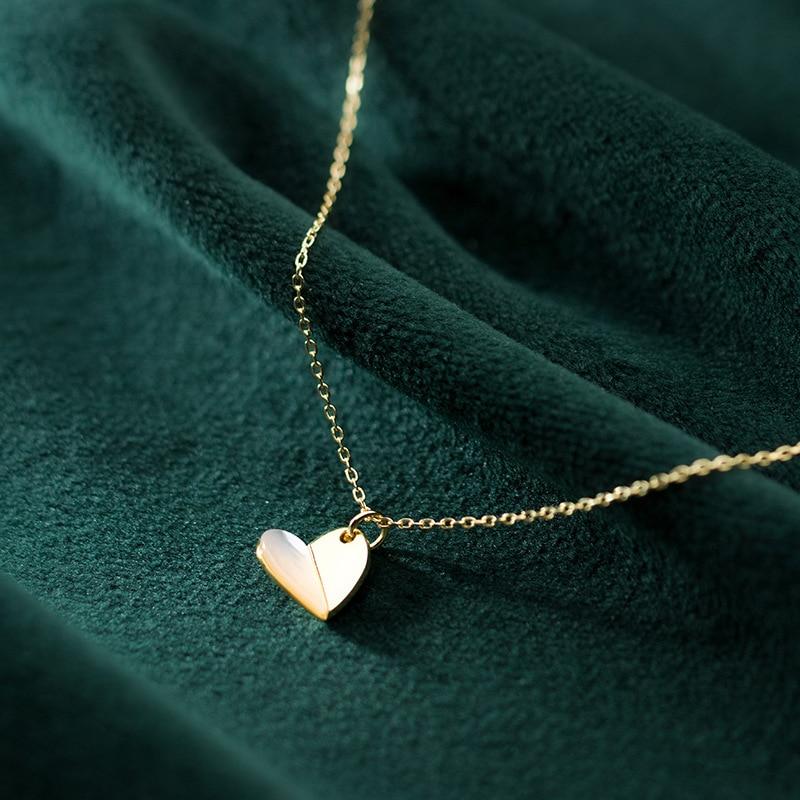 Coeur forme pendentifs 925 argent Collier ras du cou Kolye Vintage meilleur ami Bijoux Femme Collier bohème Collier femmes Bijoux