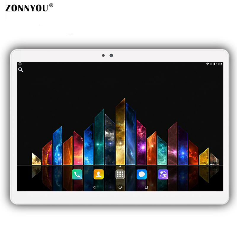 10.1 inch Tablet PC Android 7.0 Octa core 3G Call LTE Dual SIM GPS WIFI Bluetooth 4 GB RAM 32 GB ROM tabletten PC Tablette 10.9 ampe a91 3g 9 dual core android 4 2 tablet pc w 8gb rom gps wi fi bluetooth golden white