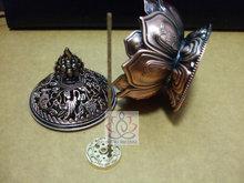 Tibetan Lotus Incense Burner 7.8*7.2*6.0cm Alloy Bronze Mini Incense Burner Incensory Metal Craft Home Decor Free Shipping