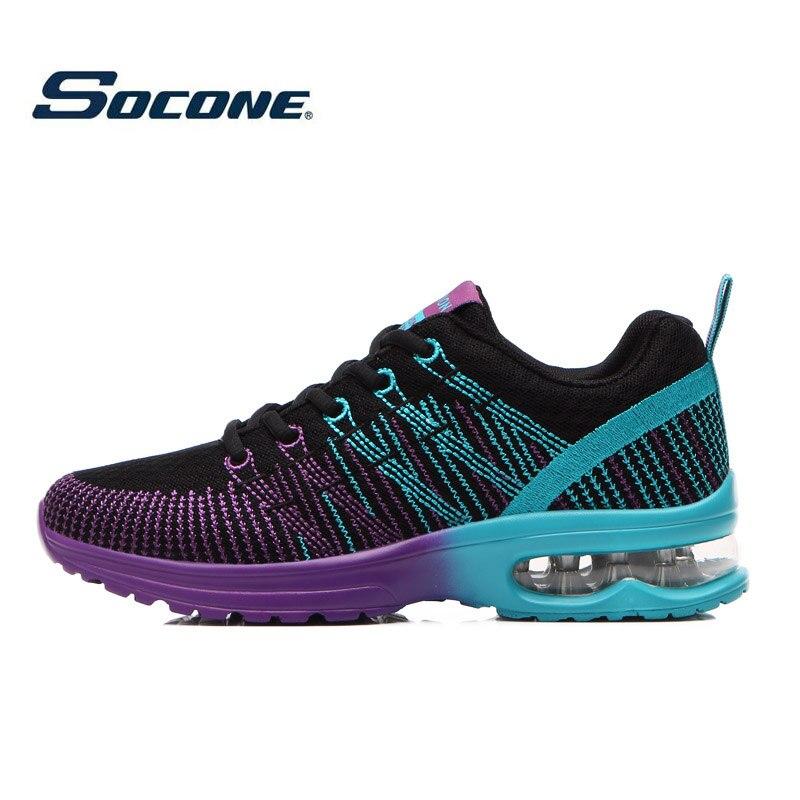 ФОТО SOCONE Hotsale 2016 air cushion original zapatos de hombre athletic Outdoor sport shoes women running shoes size 36-40