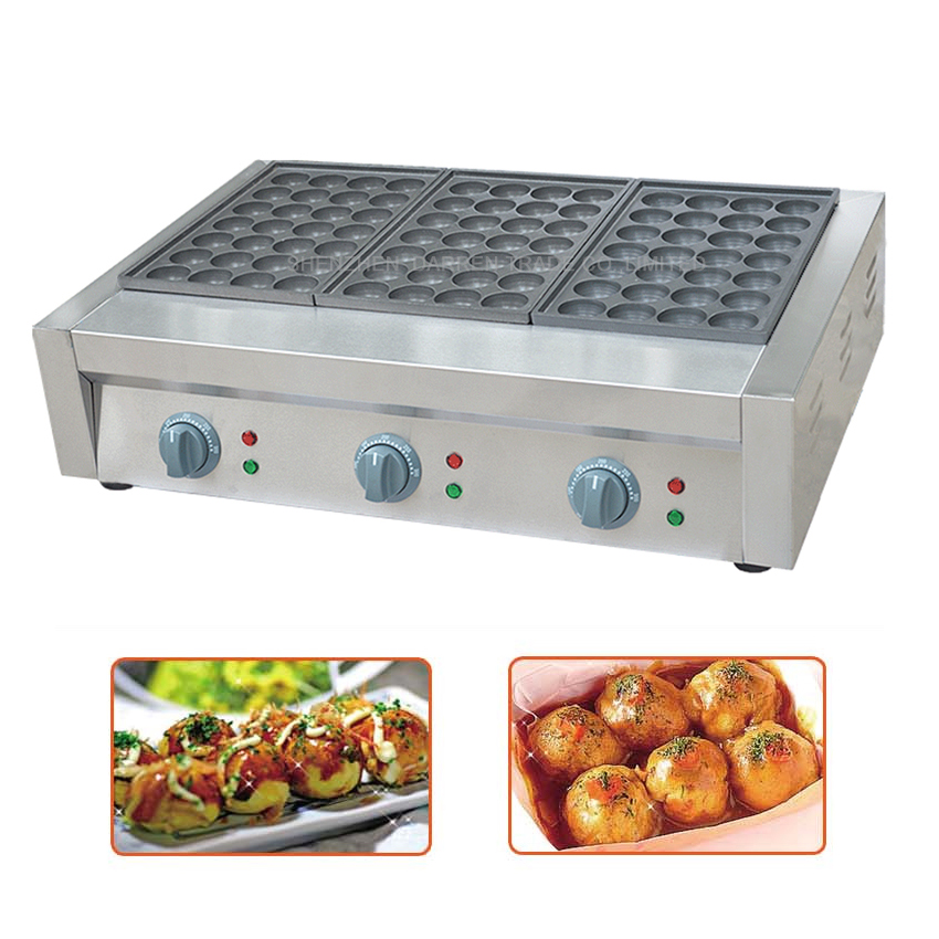 2PC Three Board Electric Fish Furnace FY-3 fish Furnace Chapter Takoyaki Octopus Balls Machine Hot Selling