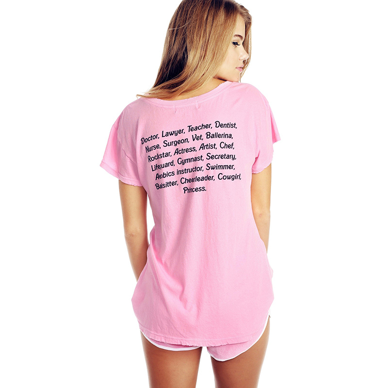 c98de1424 Cute Sweet Barbie printed backside letter t shirt kawaii shirt flash loose  short sleeve summer tops graphic tees-in T-Shirts from Women's Clothing on  ...