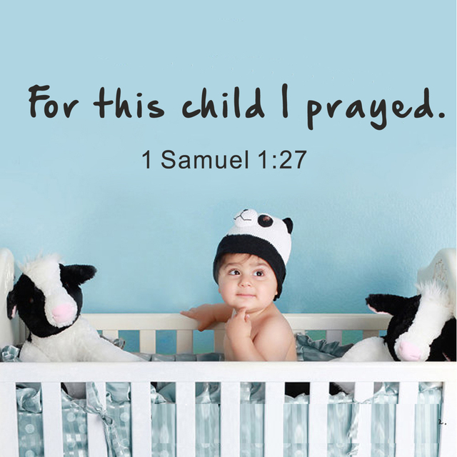 Scripture Wall Decal For This Child I Prayed 1 Samuel 1: 27 Bible ...