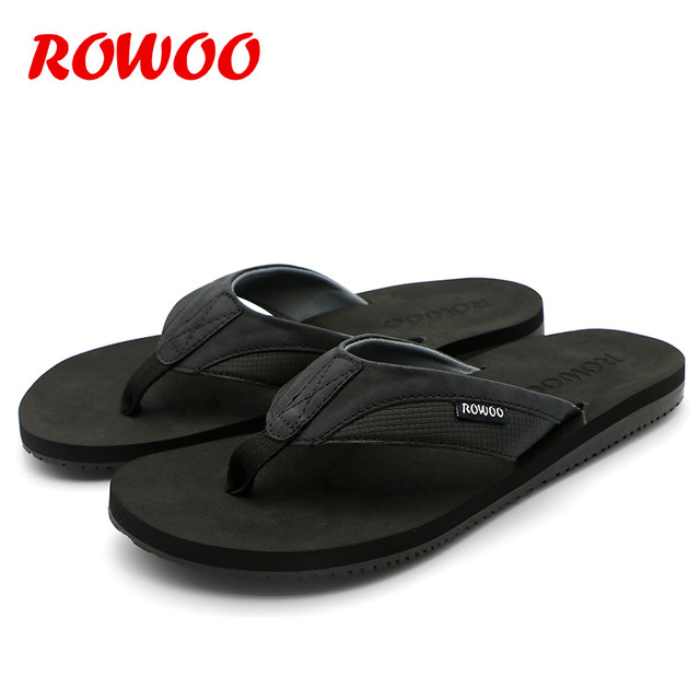 PU Leather Slippers Men Beach Flip Flops Breathable Fashion Flip-Flops For Men Summer Shoes Causal Sandals Indoor Male Slippers 4