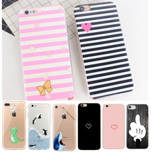 Original Case For iPhone 6s Silicone Case For iPhone 8 Plus Coque For iPhone X Cover For iPhone 6 6s 6 s 5 5S SE 7 8 Plus X cheap iPhone 7 iPhone 5s iPhone 7 Plus iPhone SE cute Patterned Animal Transparent Fitted Case GLSHST Apple iPhones 4 0 4 7 5 5 5 8 inch