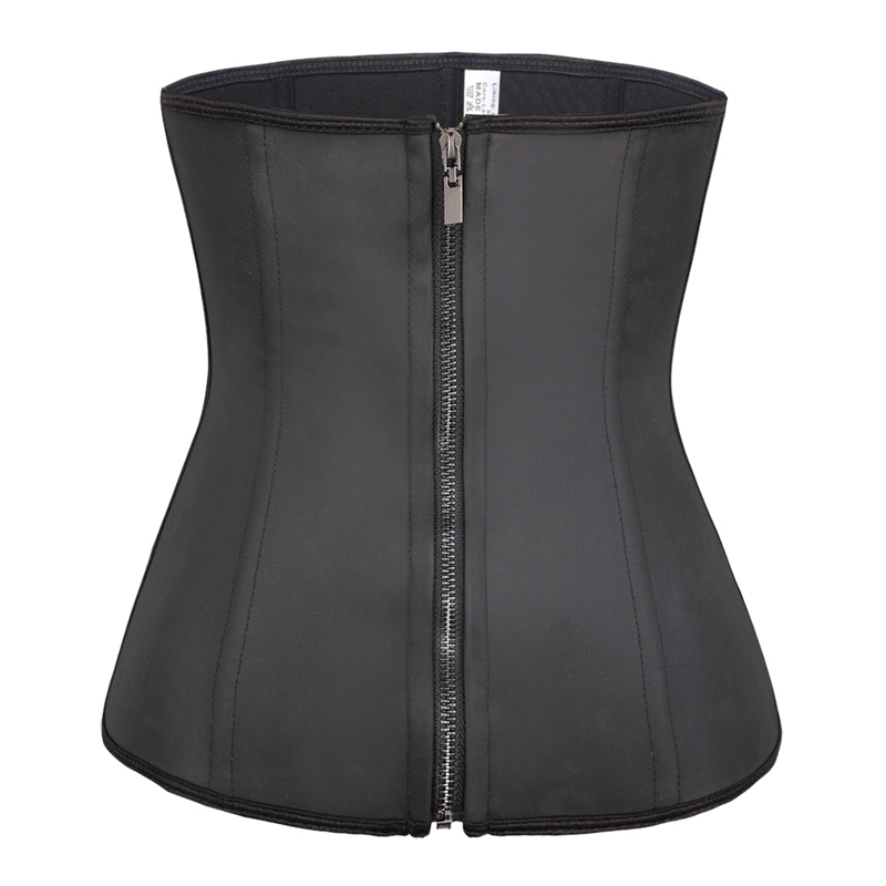 Black Real Pure Leather Corset Real Steel Bones Lace up Back Full Bust 2XS~7XL