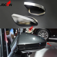 For Audi A6 C8 A7 A8 2018 2019 Car Side Rear View Rearview Mirror Cover Replacement ABS Chrome Without Lane Assistant