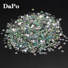 Мода 2 мм 10000 шт./лот кристально чистые AB с плоской задней частью Акриловые стразы для 3D DIY Дизайн ногтей украшение камнями