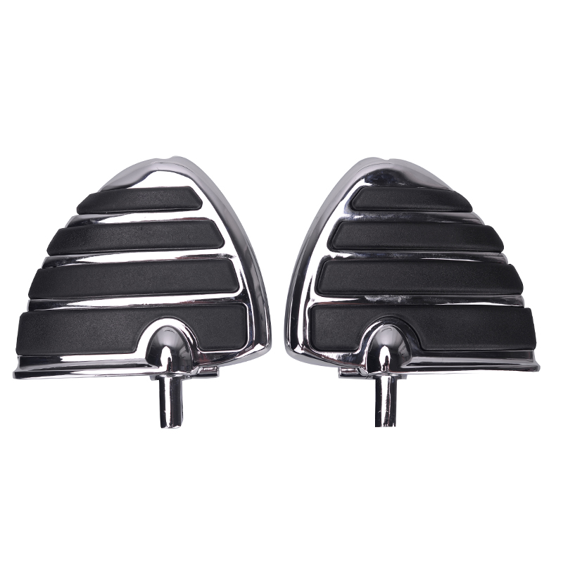 Pair Motorcycle Foot Rests Chrome Black Aluminum Wing Front Rear Anti-Vibration Footpegs Foot Pedals Footrests For Harley