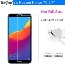 2PCS Protective Glass Huawei Honor 7C Tempered Glass Honor 7C Russian Version AUM-L41 Scre