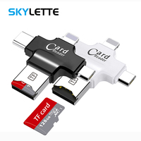 card reader All In 1 TF MicroSD Card Reader Multi-system Compatible Plug & Play Portable Adapter Card Reader For Android iOS Type-C Device (1)