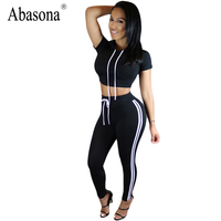 Women Summer 2017 Black Rompers Womens Jumpsuit Bodycon Straps Two Piece Outfits Sportsuit Elegant Slim Sexy