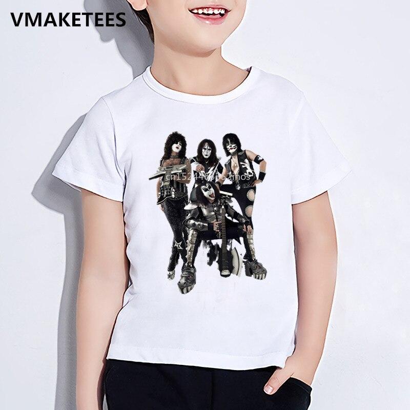 T-shirts Sinnvoll Kinder Sommer Mädchen & Jungen Lustige T-shirt Kinder Stormtroopers Fan Kuss Rock Band Druck T-shirt Mode Lässig Baby Kleidung Hkp464 Sparen Sie 50-70%