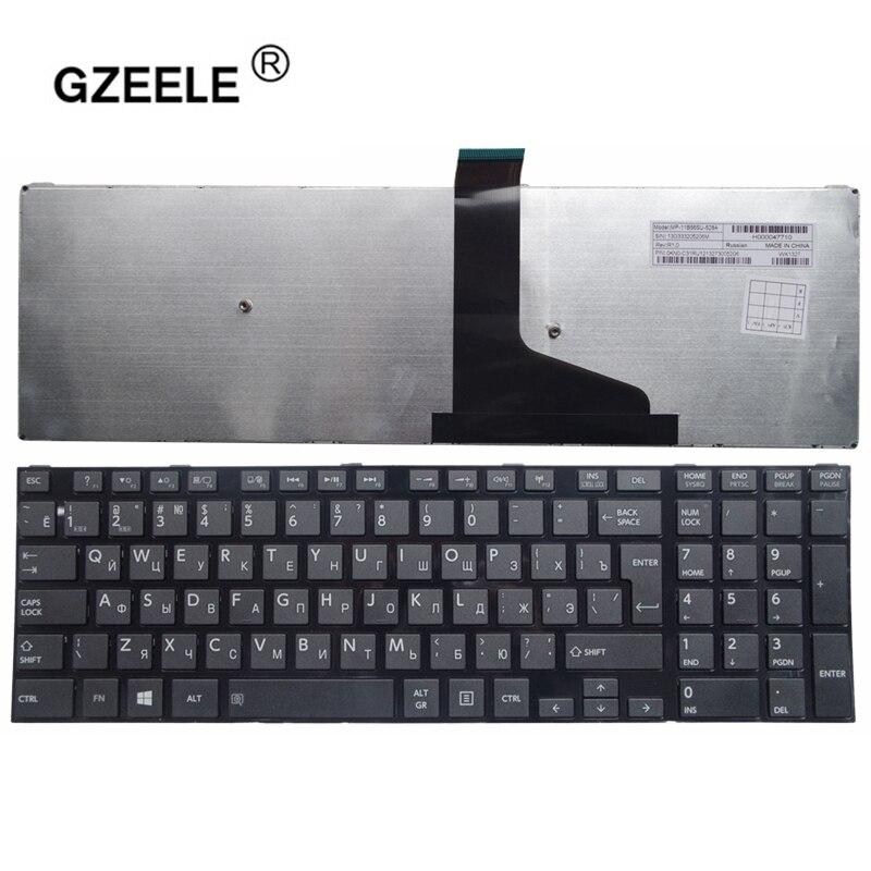 GZEELE New RU Keyboard For Toshiba Satellite l50-a s50 s55 l70 l75 c70 c75 With Frame russian Laptop Keyboard 0KN0-ZW1RU02 black