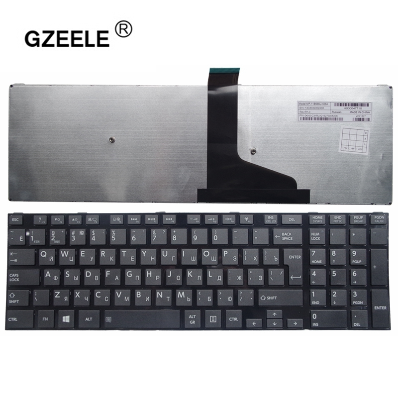 GZEELE New RU Keyboard For Toshiba Satellite l50-a s50 s55 l70 l75 c70 c75 With Frame russian Laptop Keyboard 0KN0-ZW1RU02 black laptop keyboard for dexp aquilon o142 atlas h131 h132 h133 h136 black with black frame ru russian