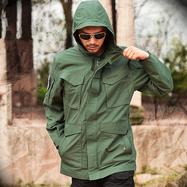 Mege Brand M65 Military Camouflage Male clothing US Army Tactical Men's Windbreaker Hoodie Field Jacket Outwear casaco masculino 2