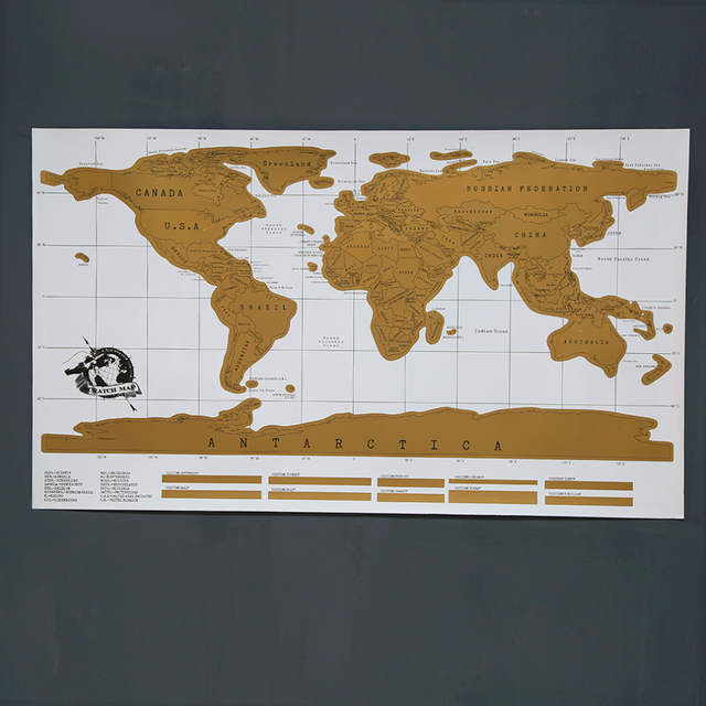 Deluxe Scratch Map Personalized World Scratch Map Mini