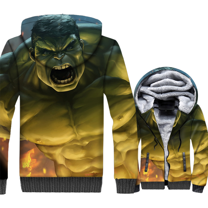 Hulk Super Hero 3D Hoody Sweatshirts Man Hooded Oversize Streetwear Pullover Men's Winter Spring Jacket Hoodie Man Tracksuit Top