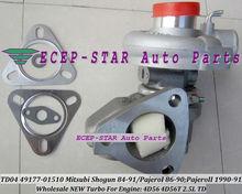 Oil TD04 49177-01510 49177-01511 MD106720 MD168053 MD094740 Turbo For Mitsubishi Pajero Delica L200 L300 Shogun 4D56 4D56T 2.5L