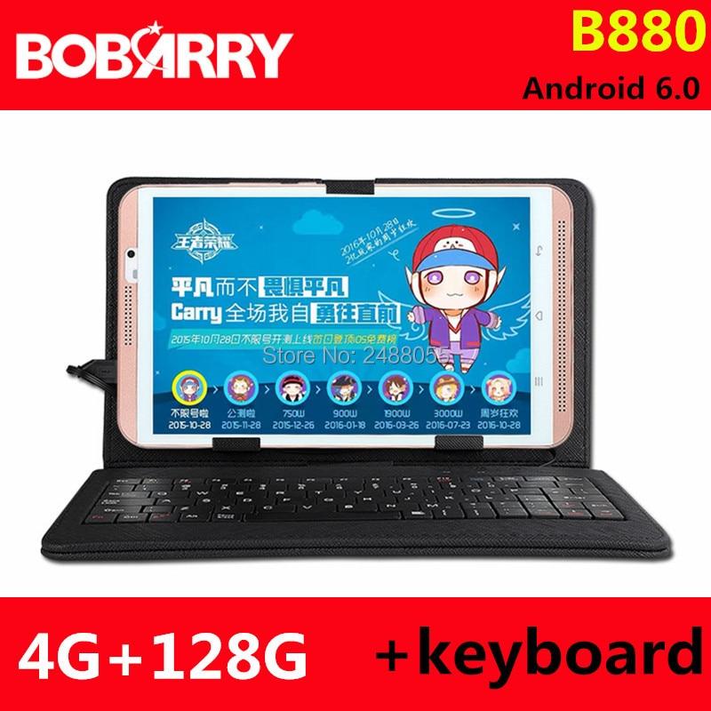 BOBARRY 8 pouces tablette ordinateur Octa Core B880 Android 6.0 tablette Pcs 4G LTE téléphone portable android Rom 128 GB tablette pc 8MP IPS