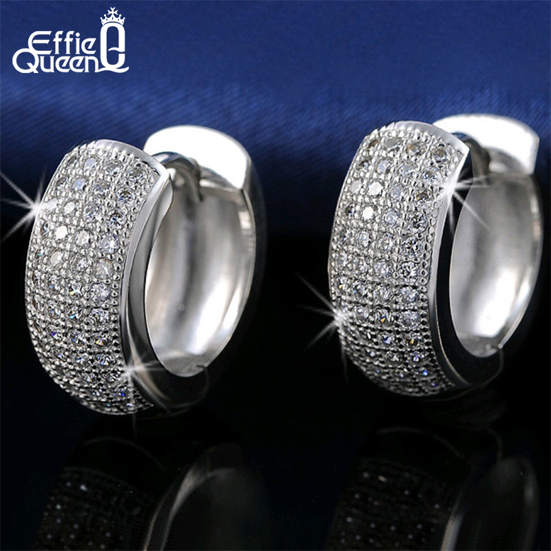 Effie Queen Newest Style Micro Paved AAA Zircon Earrings For Women's Birthday Gift Luxury Woman Earrings DE100