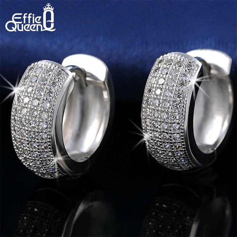 Effie Queen Newest Style Micro Paved AAA Zircon Earrings For Women's Birthday Gift Luxury Woman Earrings DE100