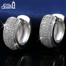 Effie Queen Newest Style Micro Paved AAA Zircon font b Earrings b font For Women s