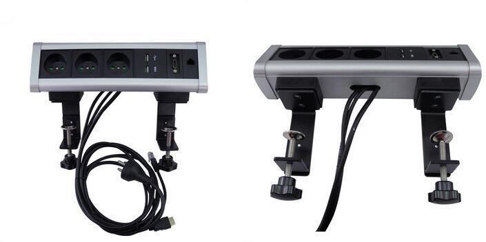 Triangle desk top power socket EU table edge socket