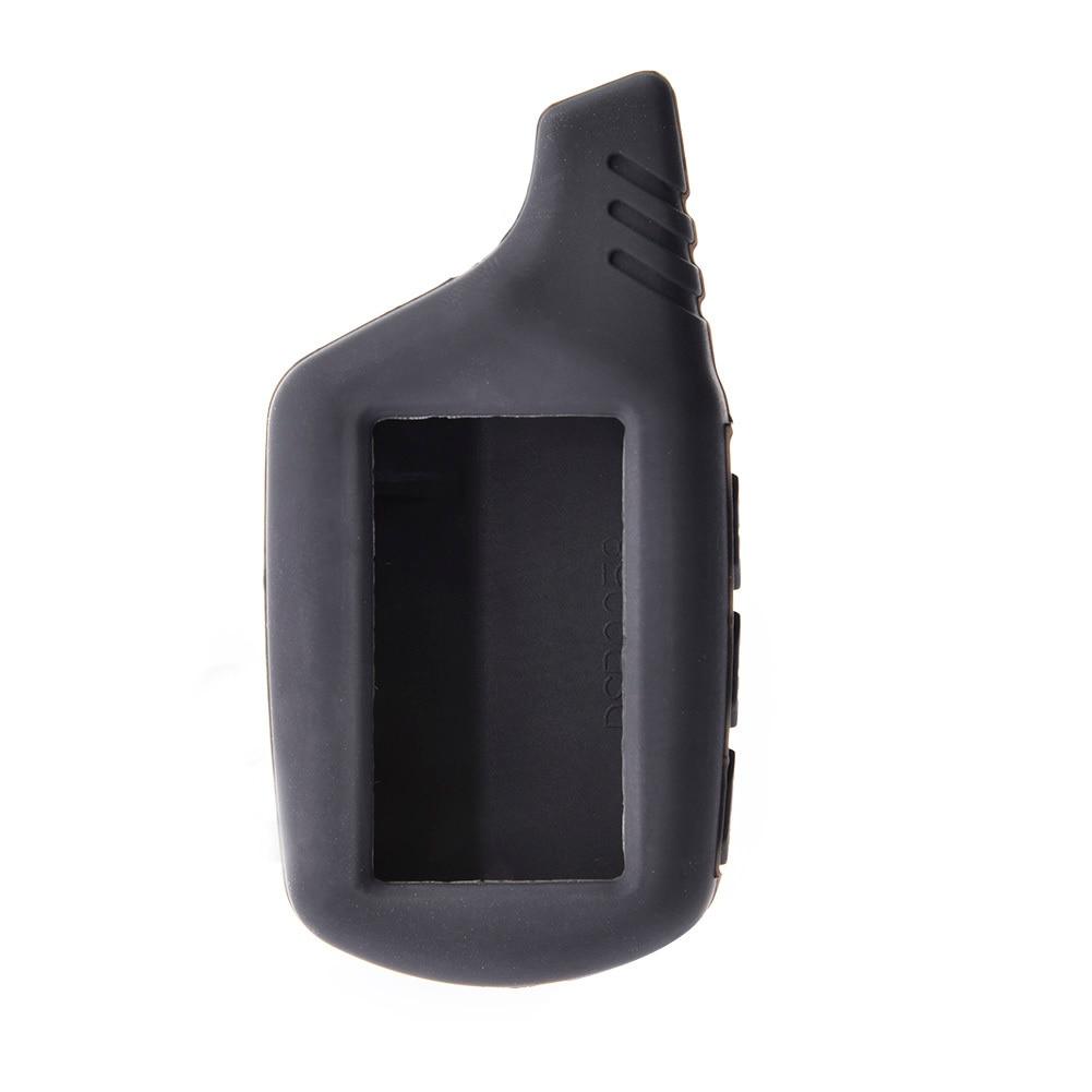 Silicone b9 b6 lcd capa do corpo caso 2 vias de alarme carro para starline b9 b91 b6 b61 a91 a61 v7 remoto chave corrente