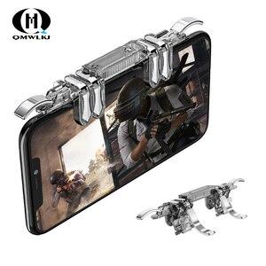 Image 1 - One piece 6 doigt Pubg Mobile contrôleur de jeu téléphone manette de jeu gachette L1 R1 visée/tireur bouton Joystick pour IPhone Android