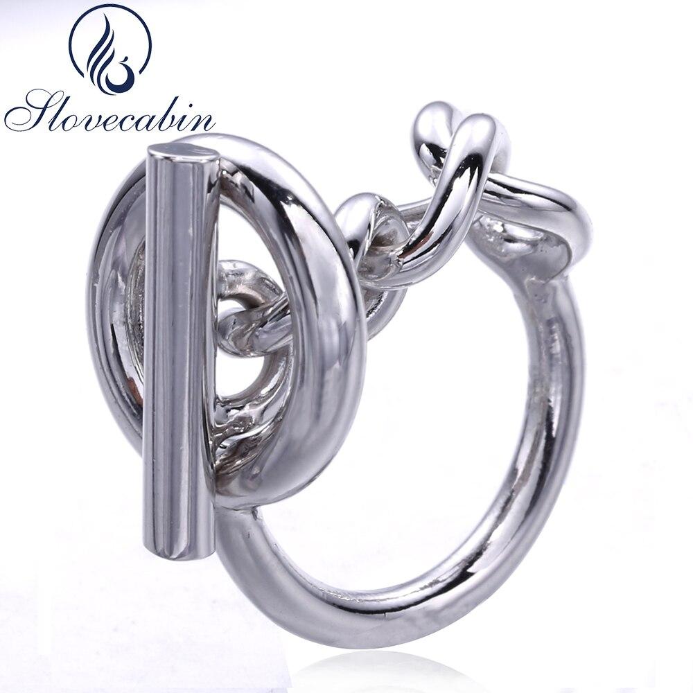 Slovecabin Vintage Männer Schmuck Authentische 925 Sterling Silber Schloss Hochzeit Ringe bague Femme Marage Argent Ringe Für Frauen