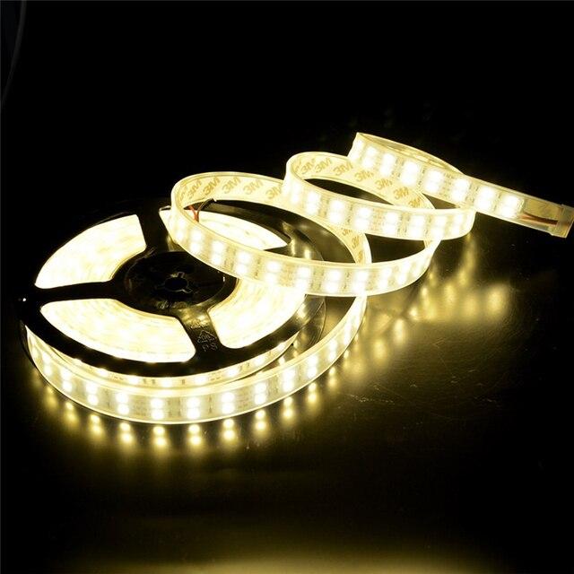 DC12V 5050 LED Şerit ışık 120 LEDs/M 5 M Çift Sıra beyaz/sıcak beyaz/RGB LED şerit 5050 IP20 su geçirmez/IP67 Su Geçirmez