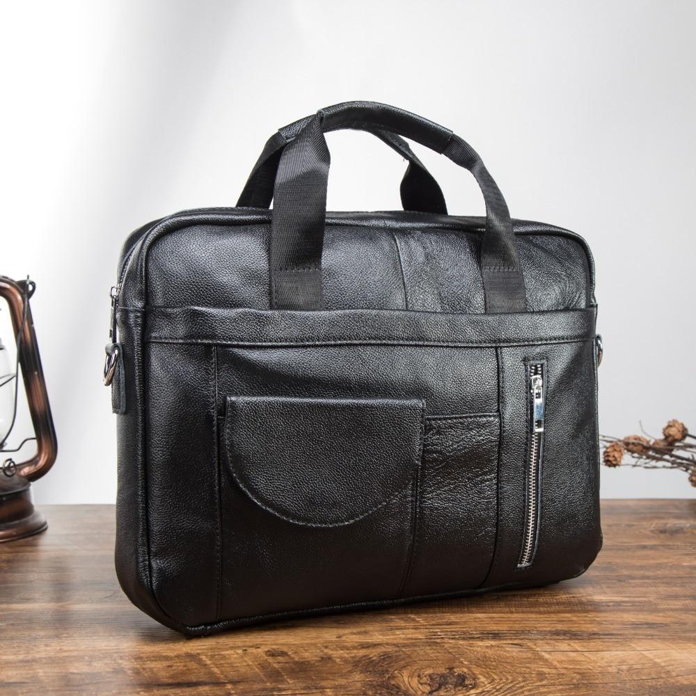 Men Genuine Leather Antique Fashion Business Briefcase 15.6