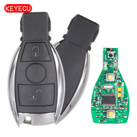Keyecu Smart Key 2 Buttons 315MHz 433MHz For Mercedes Benz Auto Remote Key Support NEC And