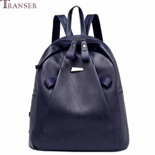 Transer nueva moda mujeres mochila De Cuero Vintage Casual bolso de escuela adolescente ladrón-Prueba de auriculares bolsa mochila #35