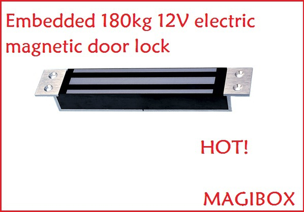 Embedded 400Lbs 180kg 12V electric magnetic door lock for access control raykube u bracket for 180kg electric magnetic lock install glass door r 180u