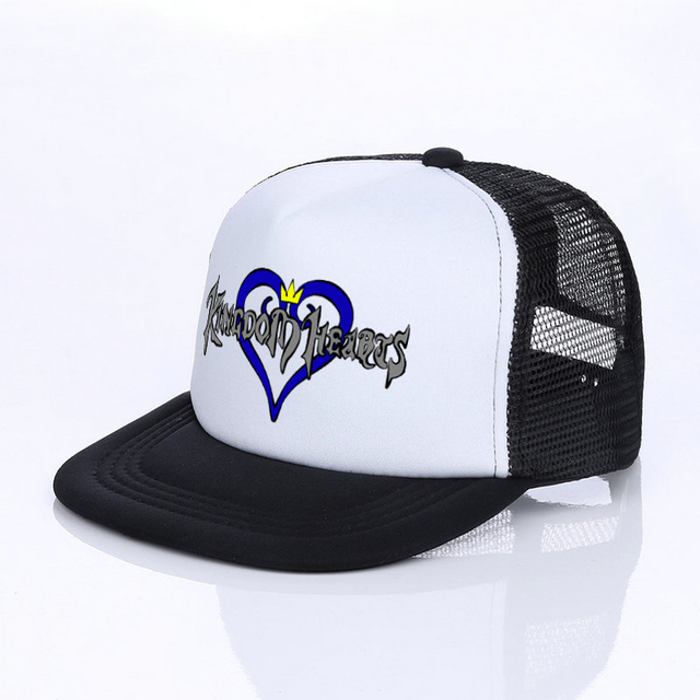 507d8a3aacc5e Kingdom Hearts Snapback Cap For Male Female Anime Game Lovers Cosplay Trucker  Hat Riku Keyblade Black Heart Dad Hats Cap YF014