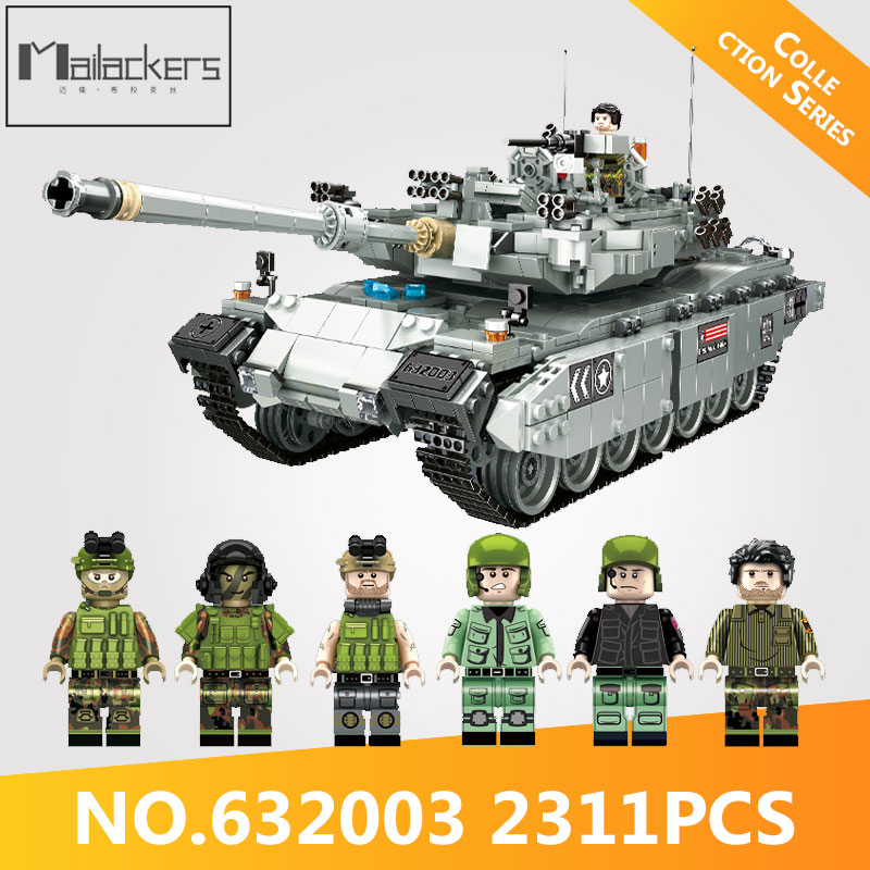 Mailackers PLS 632003 Genuine Legoing Military TYPE 99 Main Battle Tank Model Building Blocks Bricks DIY Toys Gifts For Children In From