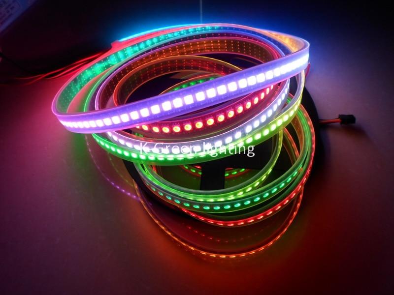 ФОТО 5X High quality APA102 addressable led digital strip 144Pixel/m 144leds/m ;DC5V, black PCB free shipping