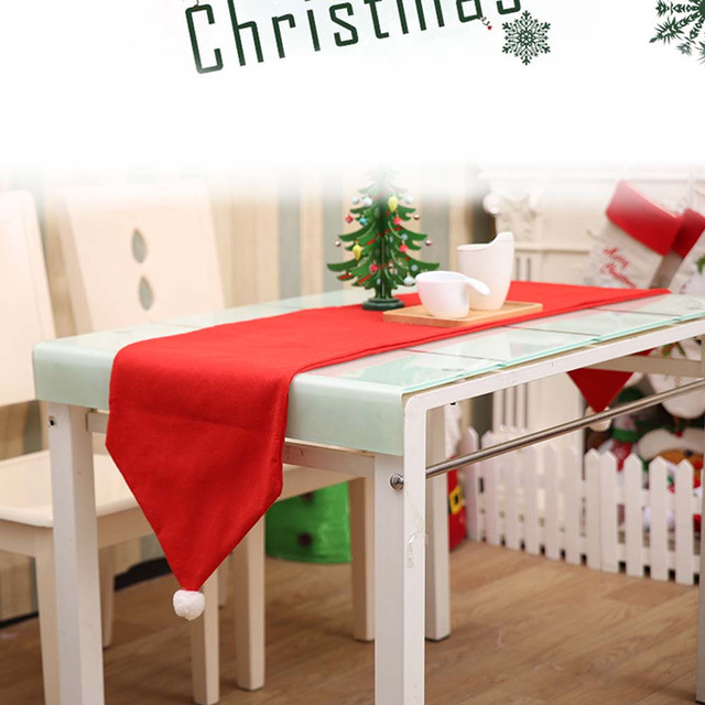 Holiday DIY Decoration Christmas Table Runner Dresser Tapestry Dining Restaurant Party Decor Red U71013