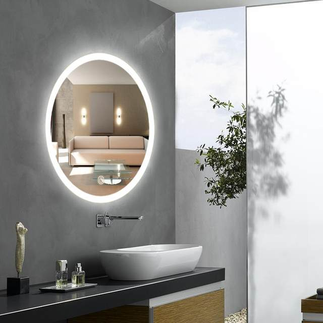Online Shop Round Dressing Room Led Mirror Light Luminaria Bathroom - Bathroom sconce with switch
