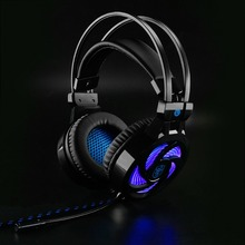 цена на Soyto USB Stereo Gaming Headset 7.1 Virtual Surround Bass Gaming Earphone Headphone with Mic LED Light for Computer PC Gamer