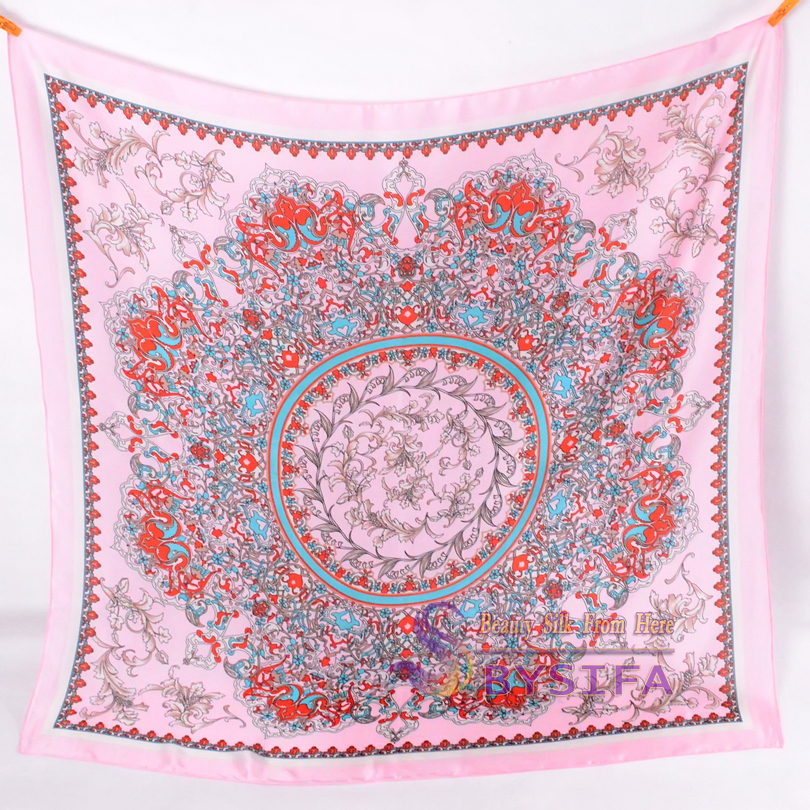 [BYSIFA] Classial Floral Frauen Seidenschal Schal New Brand Ladies - Bekleidungszubehör - Foto 3