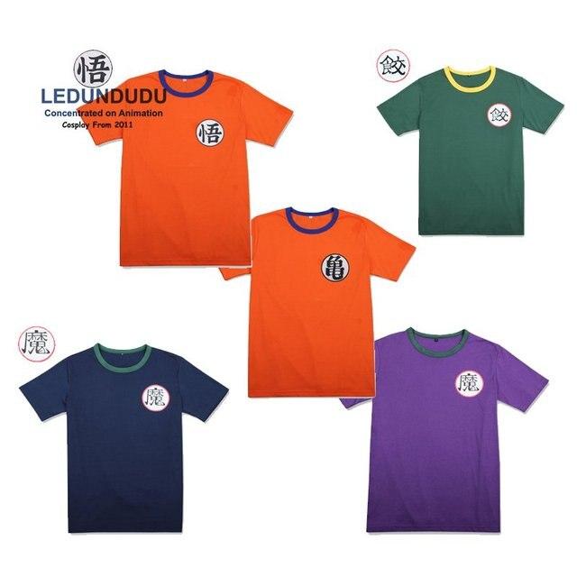 88482f6f Anime Dragon ball Z T-shirts Goku Short Sleeve O-neck Tops GUI Unisex  Casual Tees Summer Cosplay Costumes