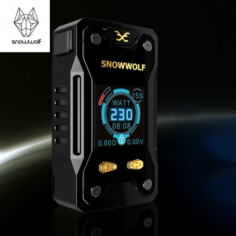 Original Vape Mod Snowwolf Xfeng 230w Mod 510 Thread Temperature Control Box Mod for Snowwolf Xfeng Electronic Cigarette Kit smoant battlestar 200w tc mod electronic cigarette mods vaporizer e cigarette vape mech box mod for 510 thread atomizer x2093
