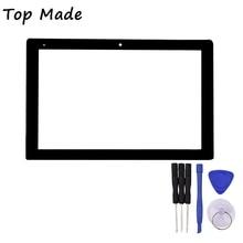 10.1 Pulgadas de Pantalla Táctil HSCTP-722-10.1-V1 para Hi10 CW1515 Tablet PC con el Agujero de Detección Digitalizador Reemplazo de Cristal Del Panel
