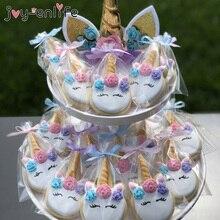 100 piezas DIY boda cumpleaños fiesta dulce celofán claro caramelo bolsas de almacenamiento galletas piruletas pastel embalaje unicornio Decoración