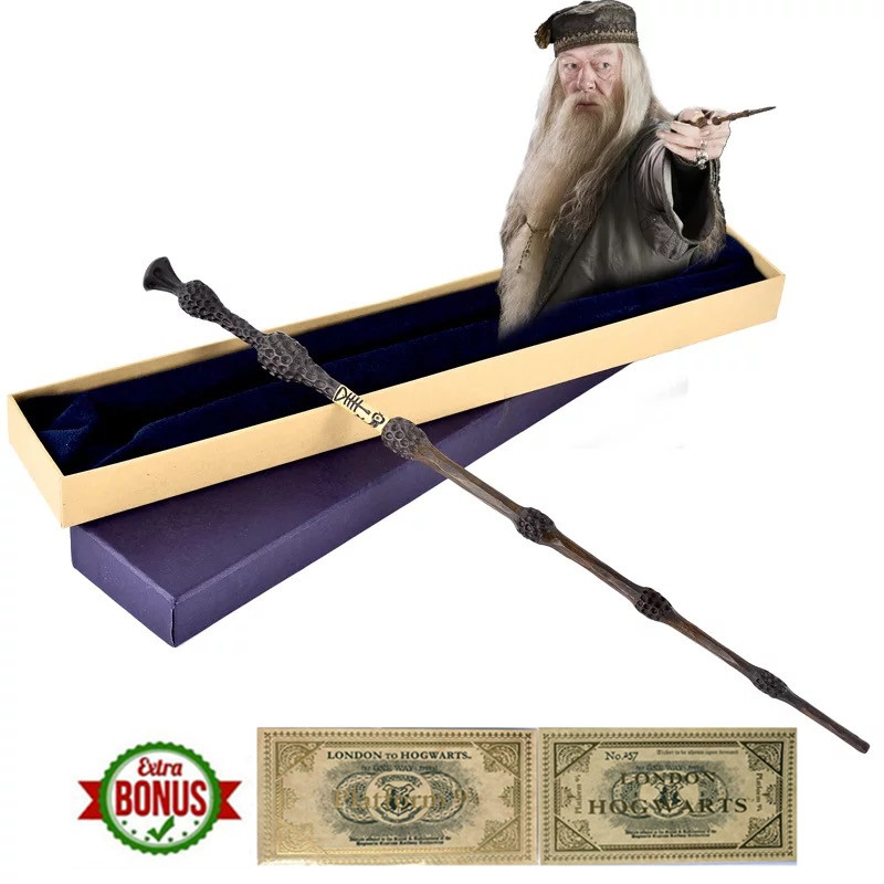 Metal Core Harry Magic Wand Hermione Granger The Elder Wand Dumbledore Birthday Party Halloween Wizard Cosplay Gift